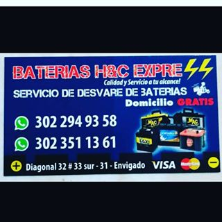 Logo de BATERIAS H&C EXPRESS⚡since2016
