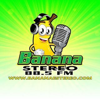 Logo de Banana Stereo  Me Fascina