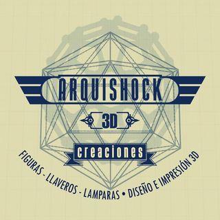 Logo de Arquishock 3D (Bryan Fuquen)