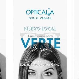 Logo de Opticalia Dra. G. Vargas