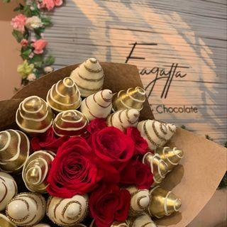 Logo de Fresas con chocolate