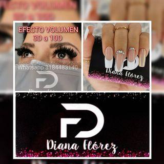 Logo de uñas en gel acrilicas Diana