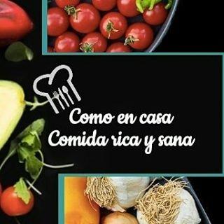 Logo de Como en Casa Comida Rica Sana
