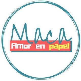 Logo de maca_amorenpapel